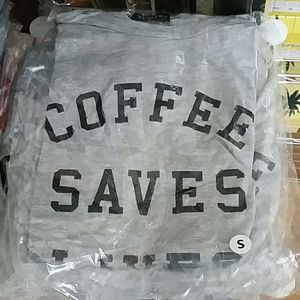 zutter Tops - Coffee Saves Lives Graphic Top